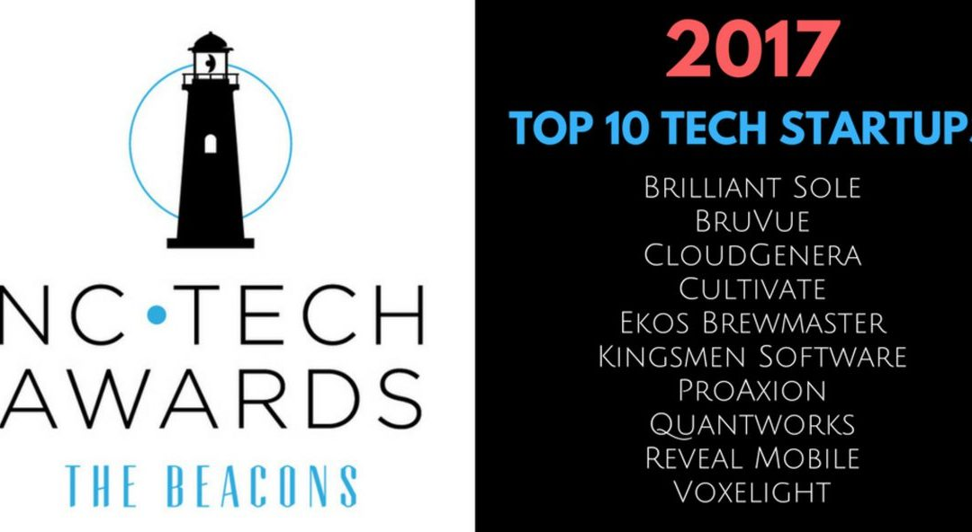 "NC Tech Awards Names Brilliant Sole in ""Top 10 StartUps To Watch"""